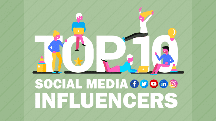 Top 10 Social media influencers
